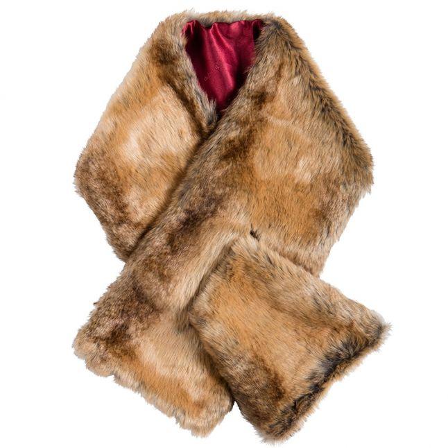 Womens Chinchilla Altamont Faux Fur Wrap