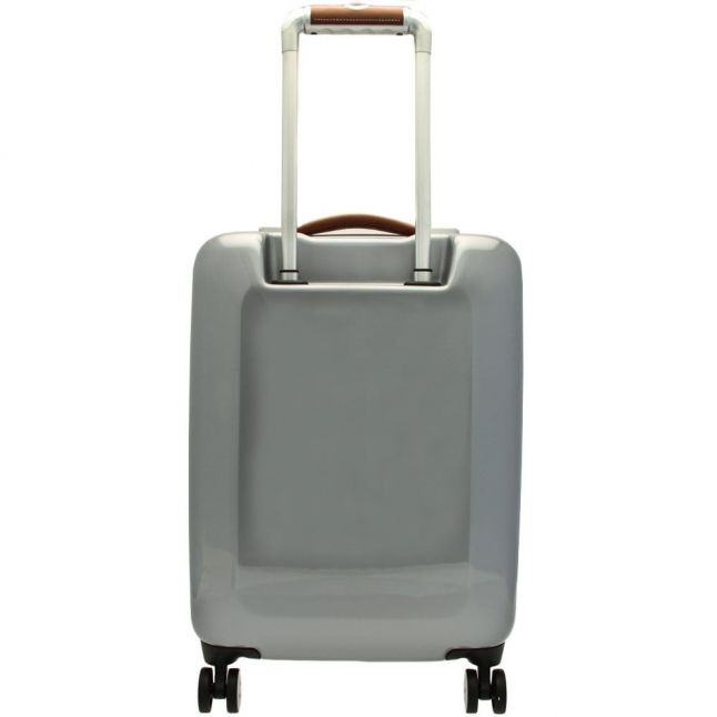 Mens Silver Small Herringbone Suitcase