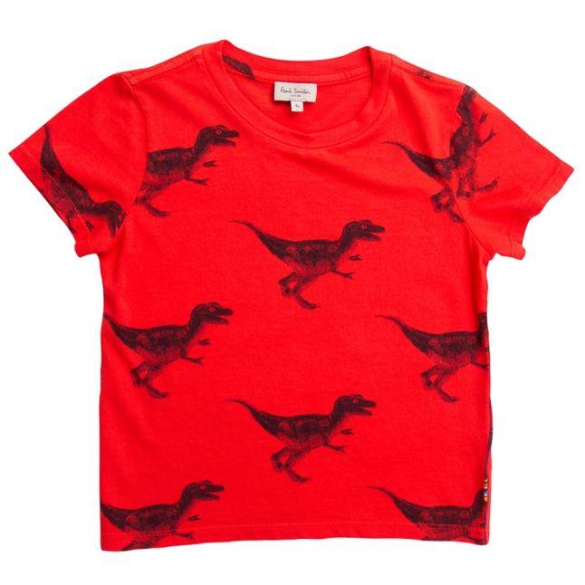 Boys Fire Red Narik S/s Tee Shirt