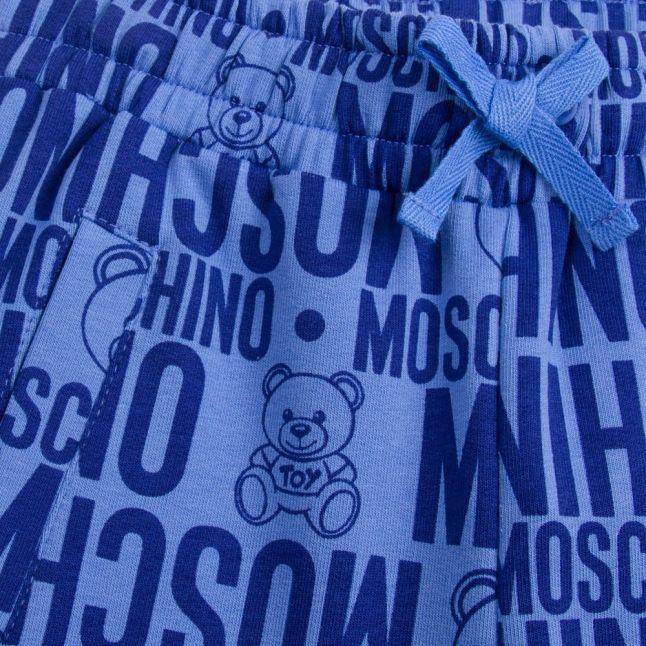 Boys Blue Toy Printed Sweat Shorts