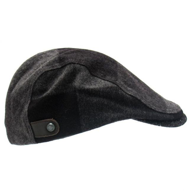Mens Black Peakz Flat Cap