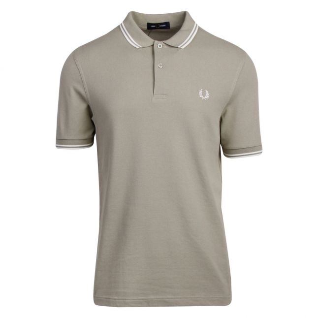Mens Light Sage Twin Tipped S/s Polo Shirt