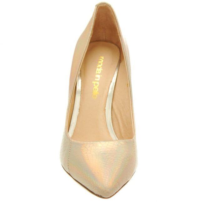 Womens Gold Jolies Snakeskin Shoes
