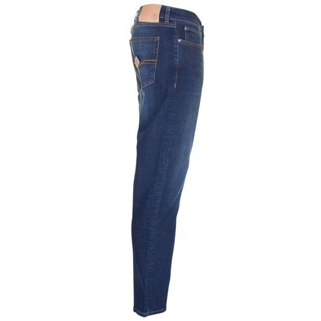 Mens Vintage Dark Wash Manston Regular Fit Jeans