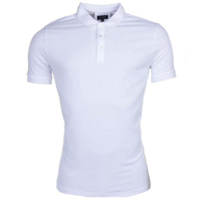 Mens White Regular Fit S/s Polo Shirt