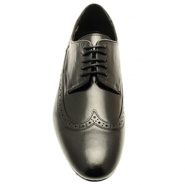 H By Hudson Mens Black Olave Brogues