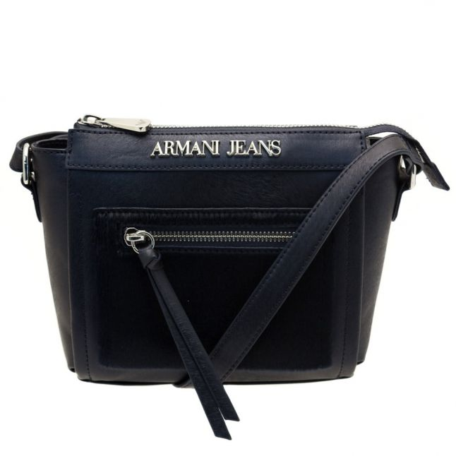 Womens Blue Metallic Effect Cross Body Bag