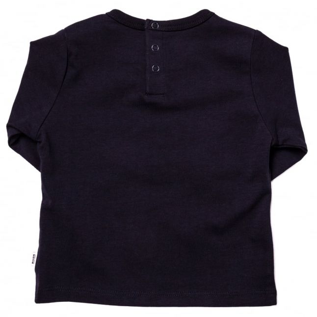 Baby Navy Basic Branded L/s Tee Shirt