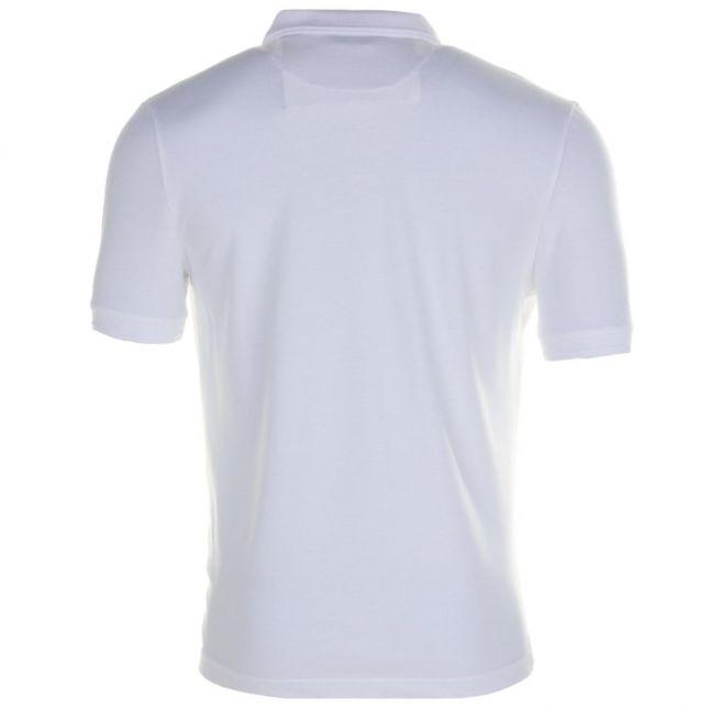 Mens Bright White Winston Waffle Front S/s Polo Shirt