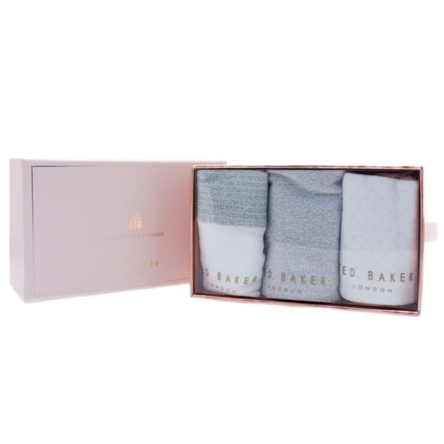 Womens Silver Glintee 3 Pack Socks