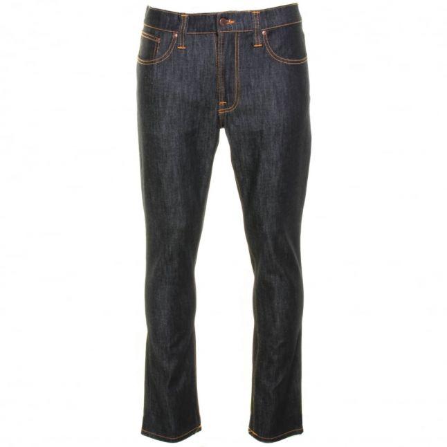 Mens Dry Deep Navy Wash Lean Dean Slim Fit Jeans