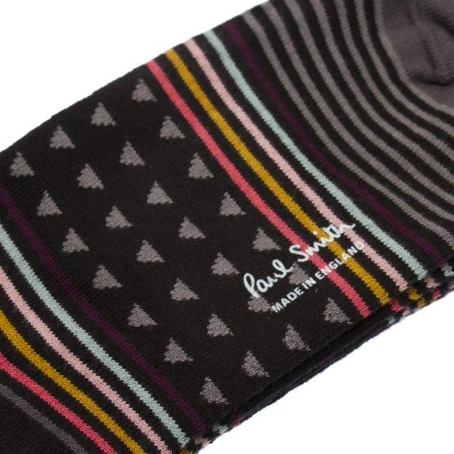 Mens Black Jack Stripe Socks