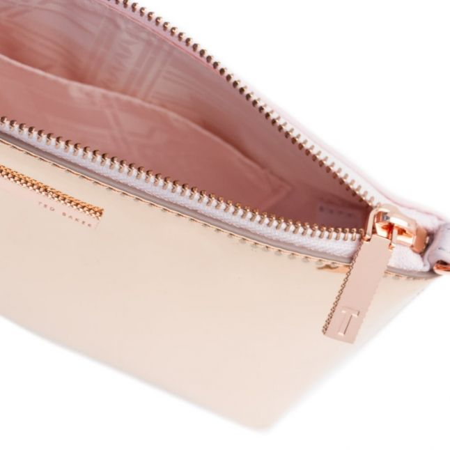 Womens Rose Gold Alanaa Mirror Colour-Block Cross Body Bag