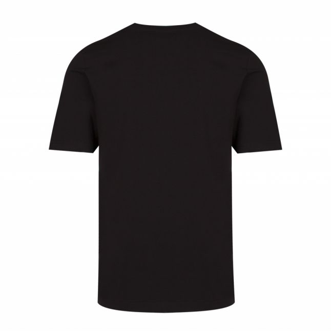 Mens Black Globe & Peace Regular Fit S/s T Shirt