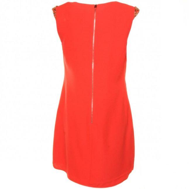 Womens Tangerine Reevah Embellished Shoulder Dress