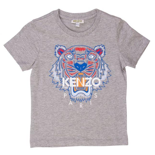 Boys Marled Grey Tiger 6 S/s Tee Shirt