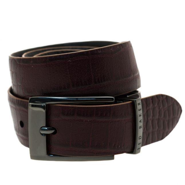 Mens Black Zazza Reversible Belt