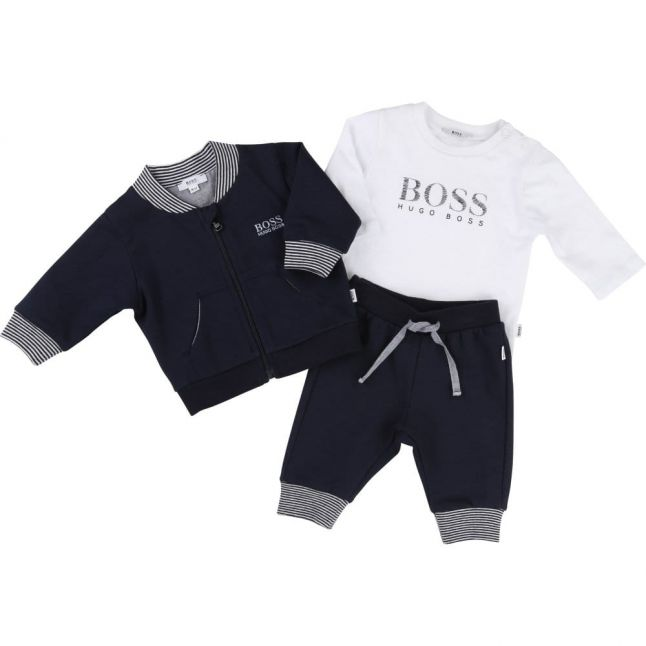 Baby Navy Tracksuit & Top Set