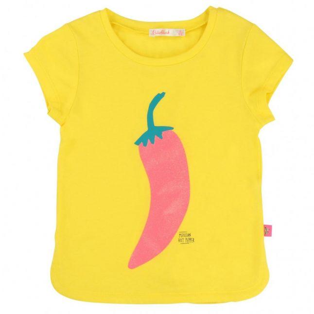 Girls Yellow Chilli Pepper S/s Tee Shirt