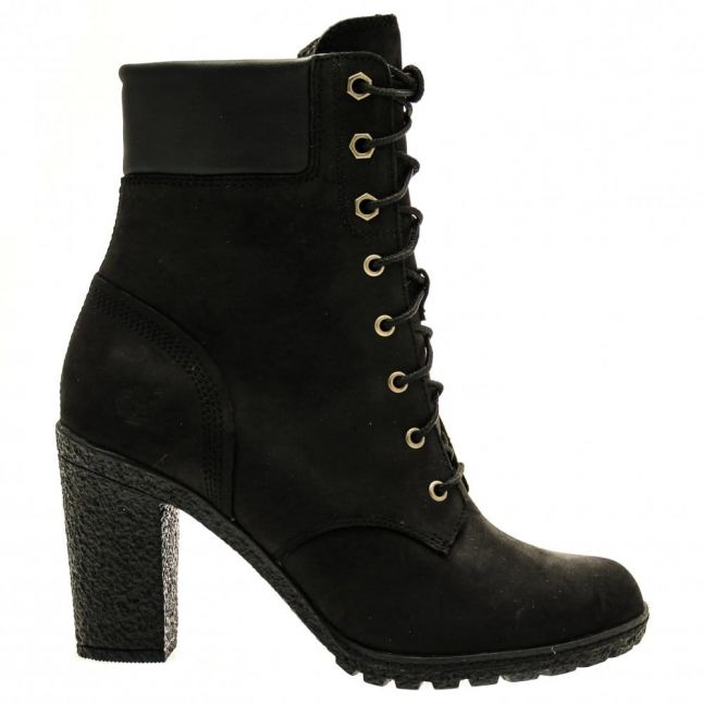 Womens Black Glancy 6 Inch Boots
