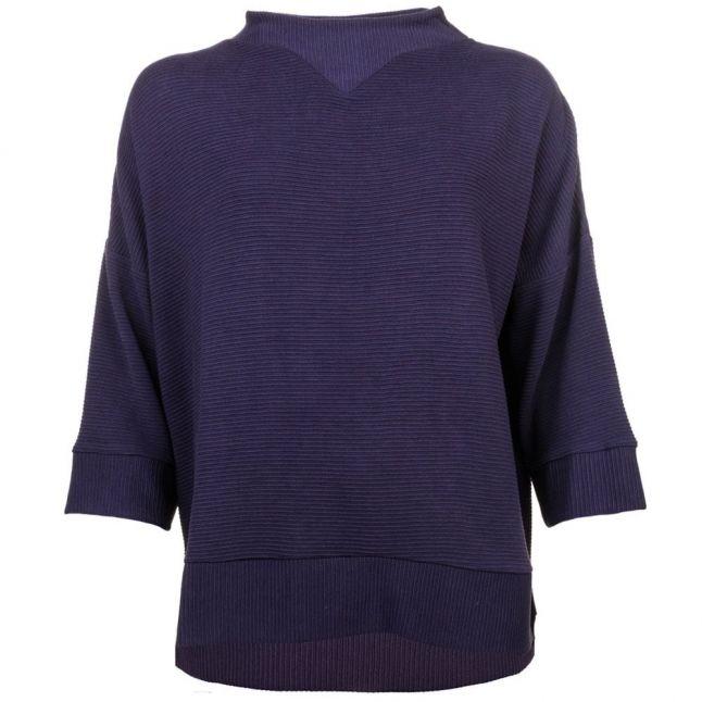 Womens Utility Blue Sudan 3/4 Sleeve Sweater