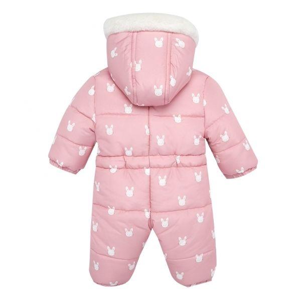 Mayoral Baby Crystal Pink Bunny Snowsuit