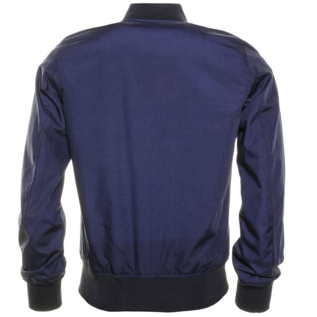 Mens Navy Small Logo Bomber Jacket