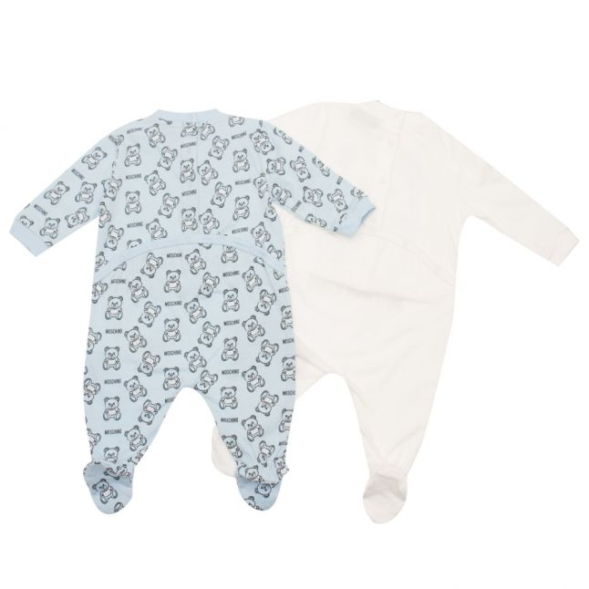 Baby Sky Blue Toy 2 Pack Babygrow
