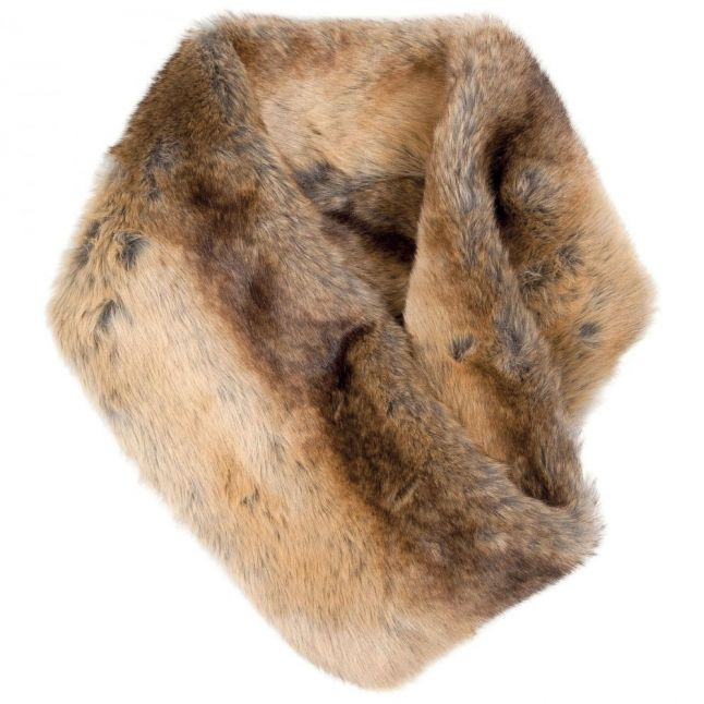 Womens Chinchilla Greystones Faux Fur Snood