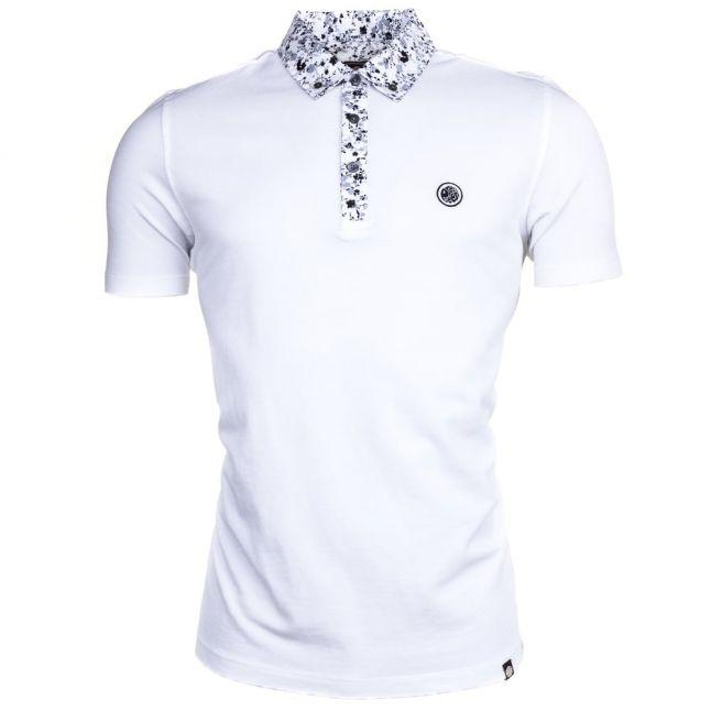 Mens White Ivylea Floral S/s Polo Shirt