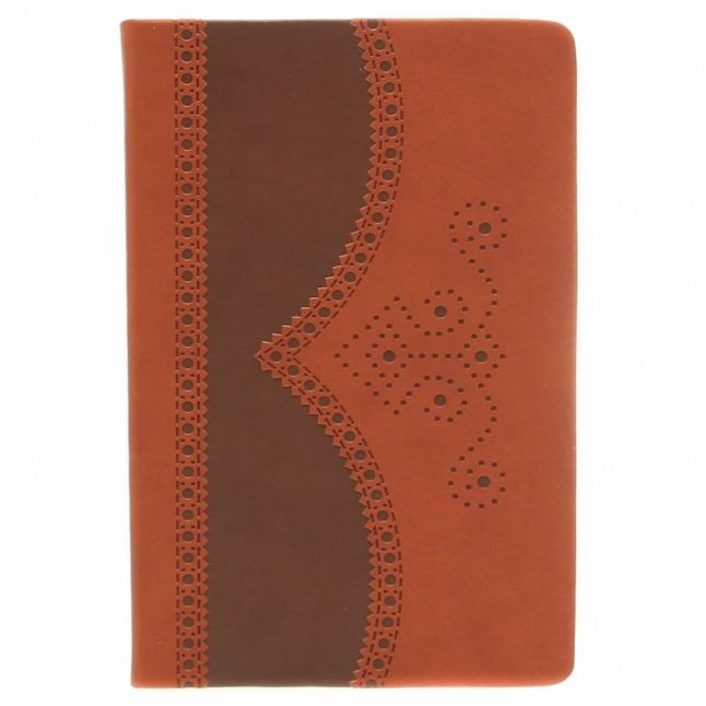 Brown A5 Medium Brogue Notebook