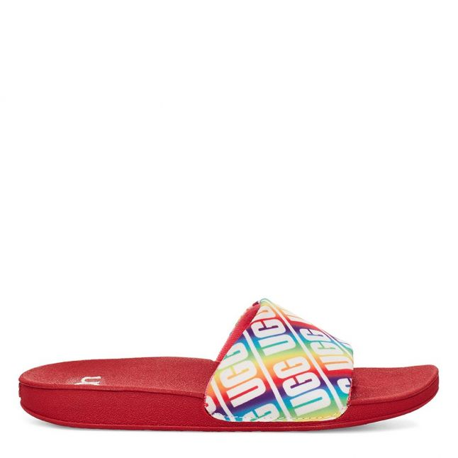 Kids Pink Rainbow Beach Slides (12-5)