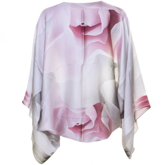 Womens Nude Pink Mayes Porcelain Rose Silk Scarf & Cape