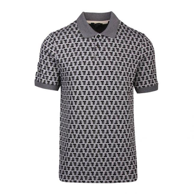 Mens Grey Rebals Jacquard S/s Polo Shirt