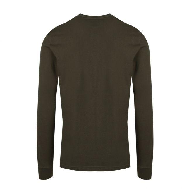 Mens Jungle Green Collegiate L/s T Shirt