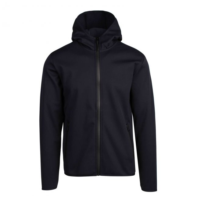 Mens Blue Marine Balea Hybrid Hooded Jacket