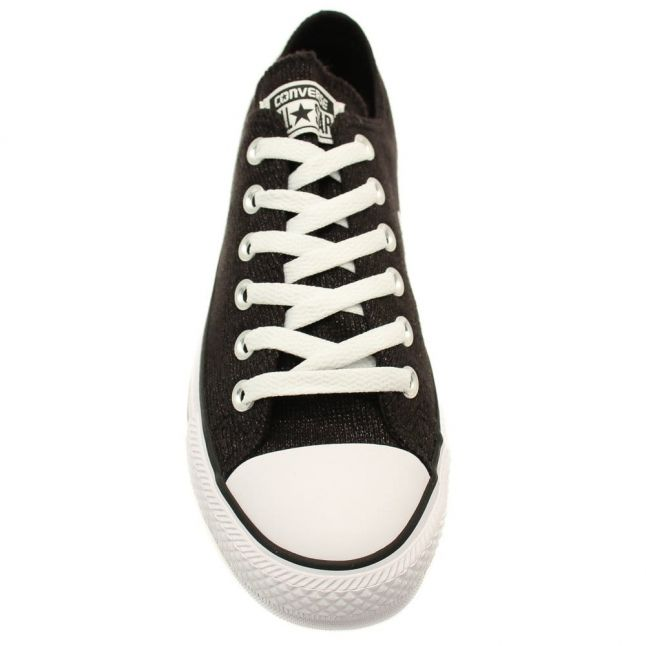 Womens Black Chuck Taylor All Star Sparkle Knit Ox
