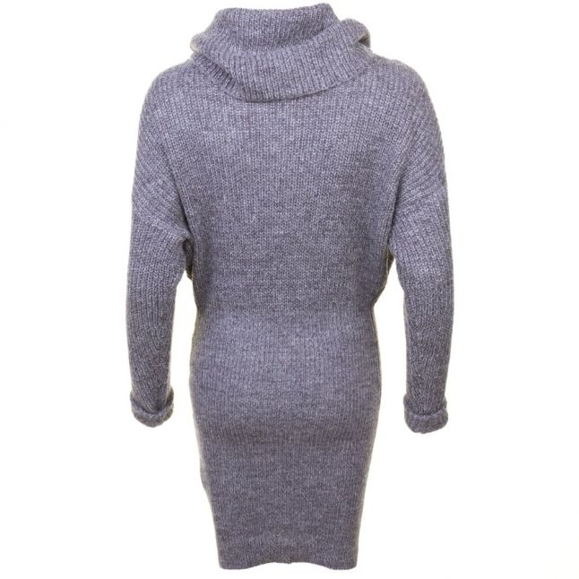 Womens Dark Grey Melange Vimatchi Rollneck Knitted Dress
