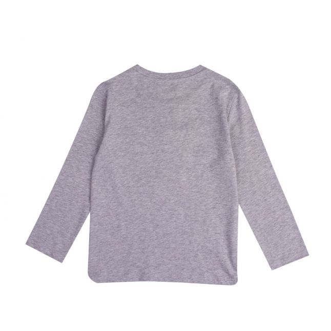 Kenzo Boys Grey Kairon Elephant L/s T Shirt
