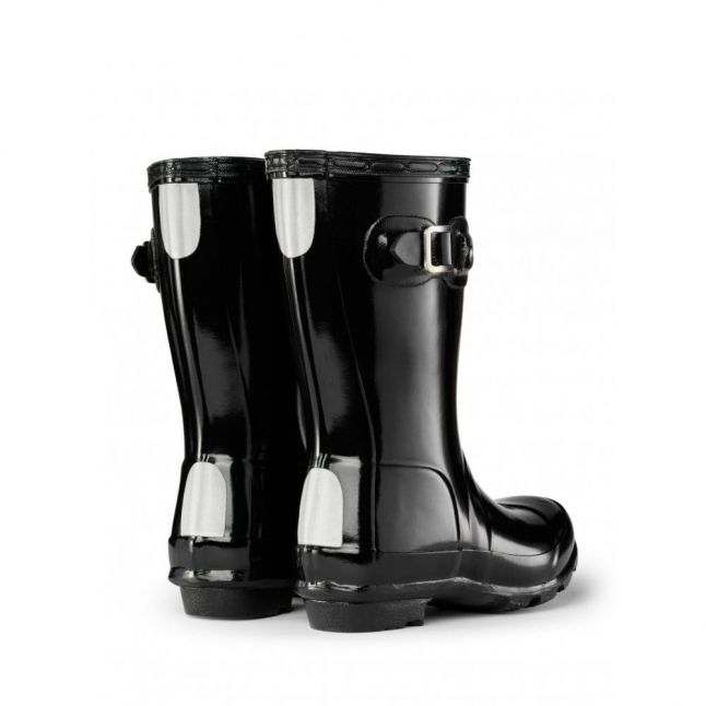 Kids Black Original Gloss Wellington Boots (7-5)