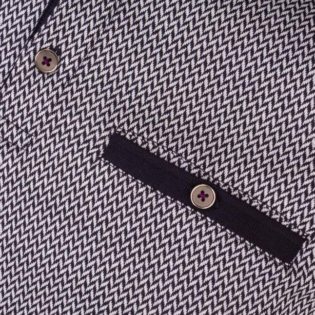 Mens Navy Morrow Jacquard S/s Polo Shirt
