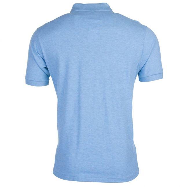 Mens Wave Blue Classic S/s Polo Shirt