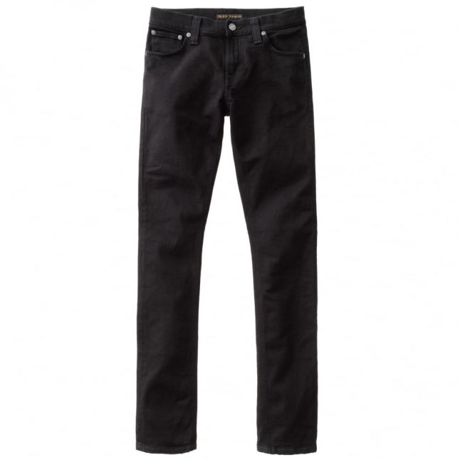 Mens Black Black Wash Long John Skinny Fit Jeans