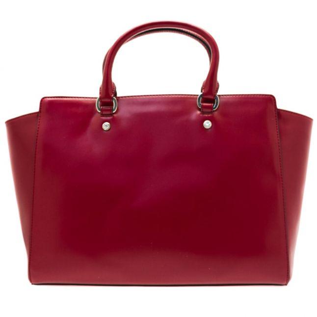 Womens Dark Red Heart & Chain Tote Bag