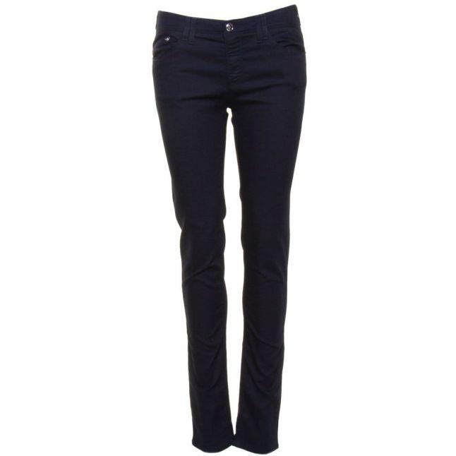 Womens Blue Wash J28 Mid Rise Skinny Fit Jeans