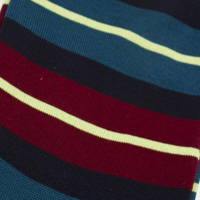 Mens Navy Donnie Neon Stripe Socks