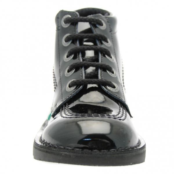 Youth Black Patent Kick Hi (3-6)