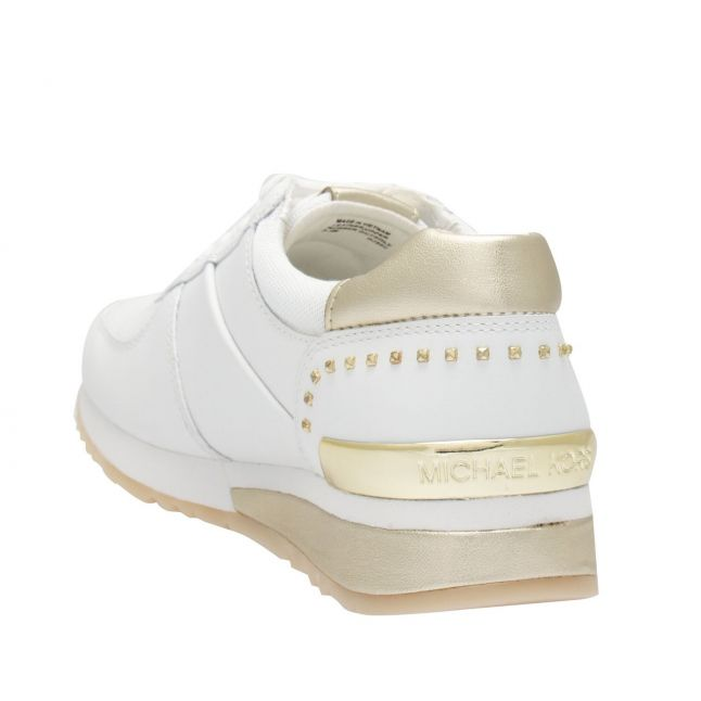 Womens White/Gold Allie Wrap Trainers