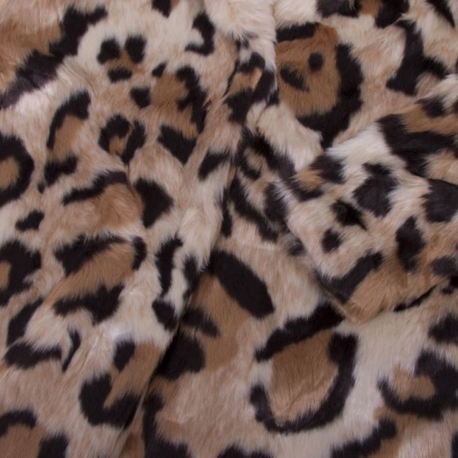 Womens Soft Camel Vimondana Animal Faux Fur Coat