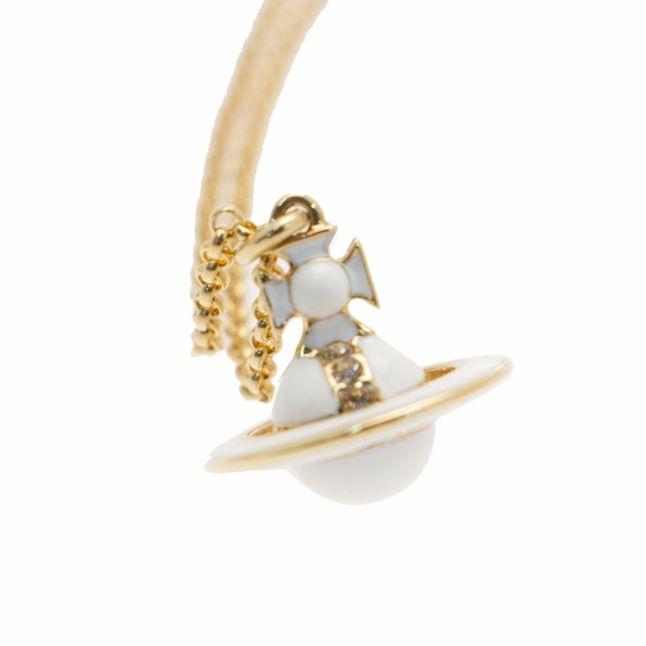 Womens Gold & White Iona Orb Pendant